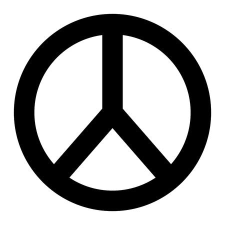 平和と愛ラウンドシンボルデザインベクトルイラストピクトグラムデザイン