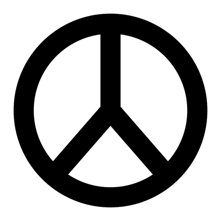 peace and love round symbol design vector illustration pictogram design