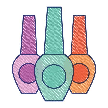 매니큐어 미용 매니큐어 여성 벡터 그림 그리기 디자인