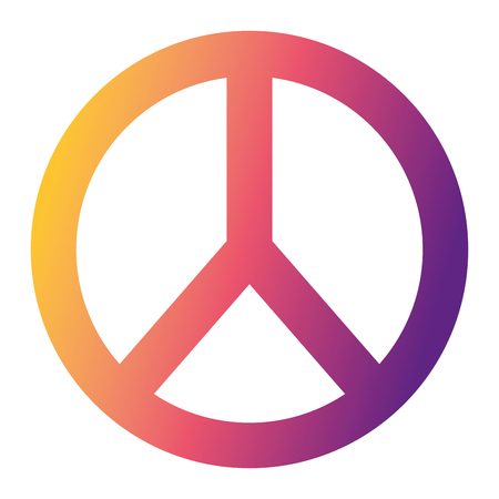 peace and love symbol vector illustration