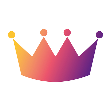 crown luxury royal monarchy icon vector illustration
