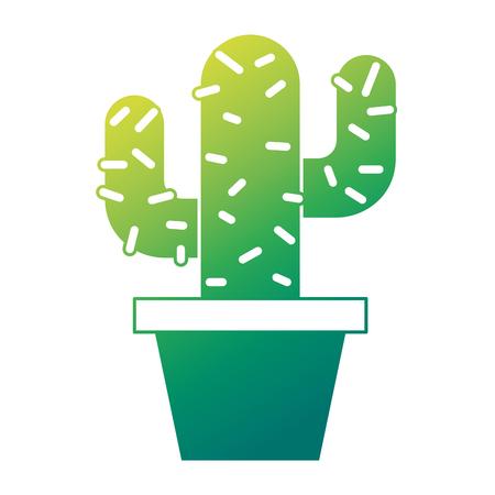 화분에 심은 선인장 자연 장식 장식 벡터 일러스트 녹색 디자인
