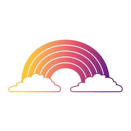 cute rainbow cloud magic fantasy image vector illustration