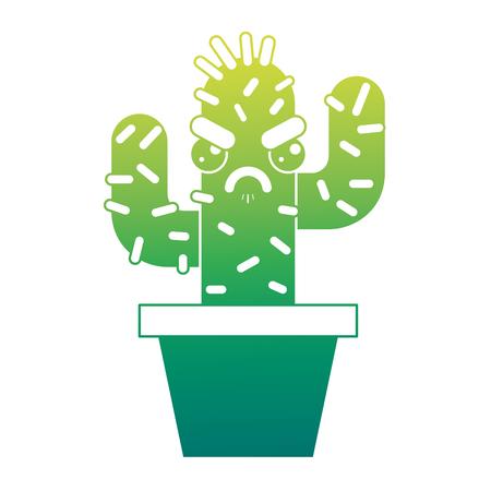 cartoon potted cactus kawaii character vector illustration green design Stok Fotoğraf - 93611896