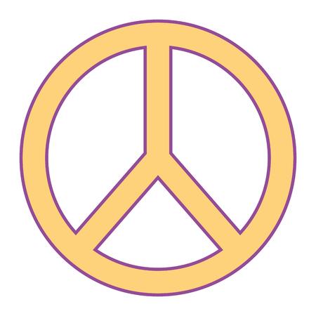 平和と愛のシンボルエンブレム画像ベクトルイラストイエローデザイン