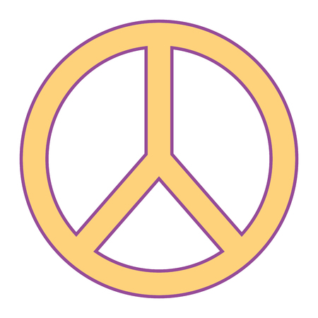 peace and love symbol emblem image vector illustration yellow design