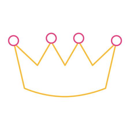 crown luxury royal monarchy icon vector illustration color line design Stock Vector - 93611986