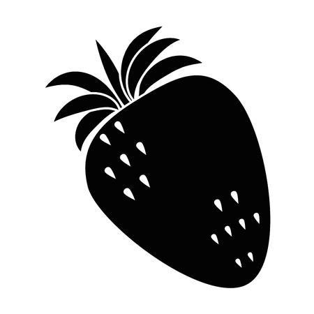 fresh strawberries fruit icon vector illustration design 向量圖像