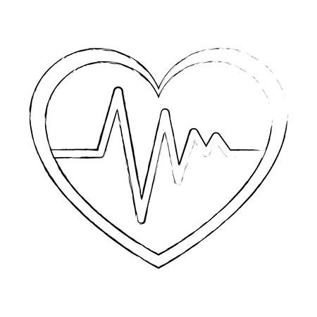 Coeur cardio isolé icône du design illustration vectorielle Banque d'images - 93562442