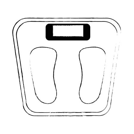 スケールウェイトメジャーアイコンベクトルイラストデザイン