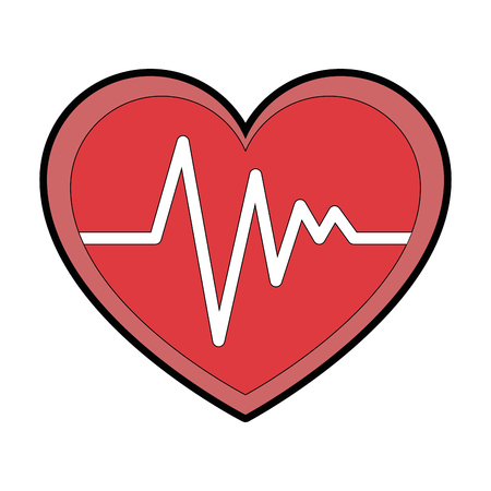 Coeur cardio isolé icône du design illustration vectorielle Banque d'images - 93562374