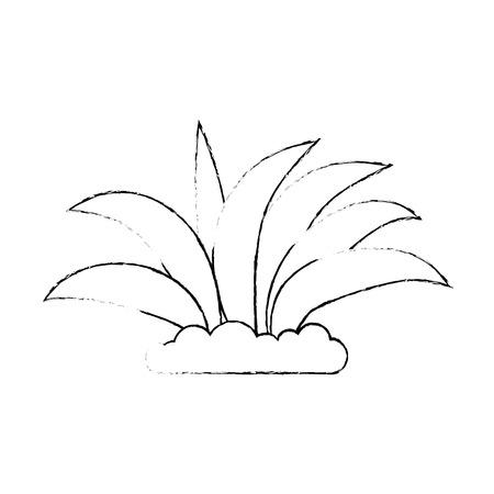 植物栽培の単離アイコンベクトルイラストデザイン。