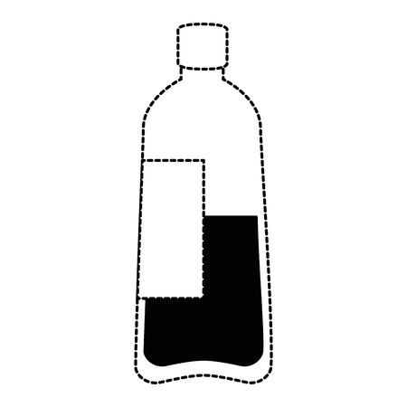 bottle water plastic icon vector illustration design