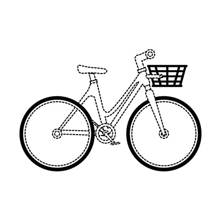 bicycle vehicle with basket vector illustration design Illustration