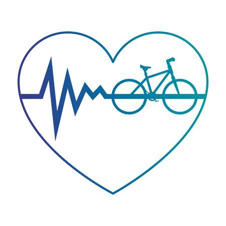 Coeur cardio avec vélo conception vecteur illustration Banque d'images - 93615099