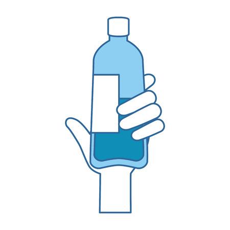 hand with bottle water plastic vector illustration design Ilustração