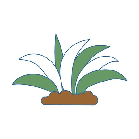 植物栽培孤立したアイコンベクトルイラストデザイン