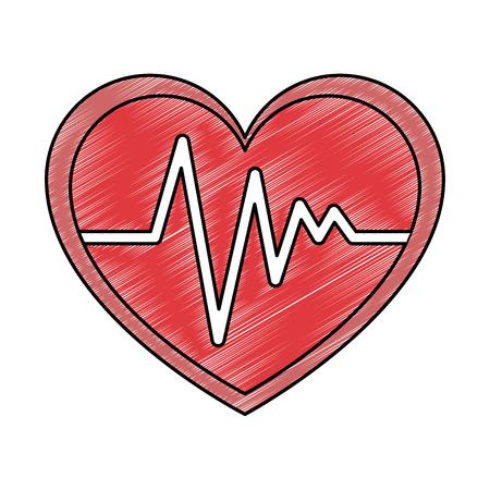 Coeur cardio isolé icône du design illustration vectorielle Banque d'images - 93615117