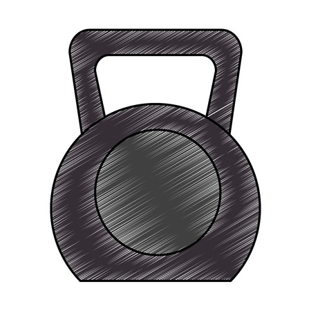 Weight lifting gym device vector illustration design.