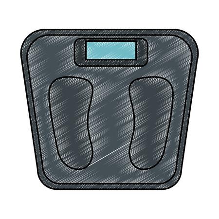 Schaal gewicht meet icoon vector illustratie ontwerp Stockfoto - 93567577