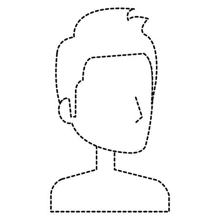 Young man shirtless avatar character vector illustration design. Illustration