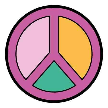 peace and love symbol emblem icon vector illustration Illustration