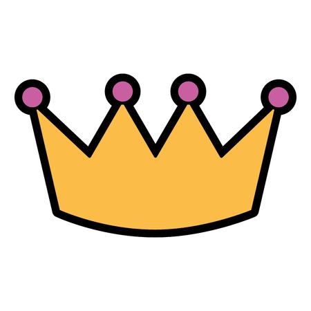 Kroon luxe koninklijke monarchie pictogram vectorillustratie Stock Illustratie