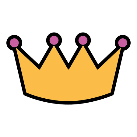 Crown luxury royal monarchy icon vector illustration Illustration
