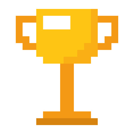 trophy pixelated game award winner vector illustration 일러스트