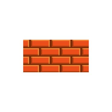 Brick wall construction concret image vector illustration