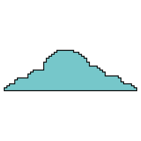 Pixelated cloud weather sky icon vector illustration Illustration
