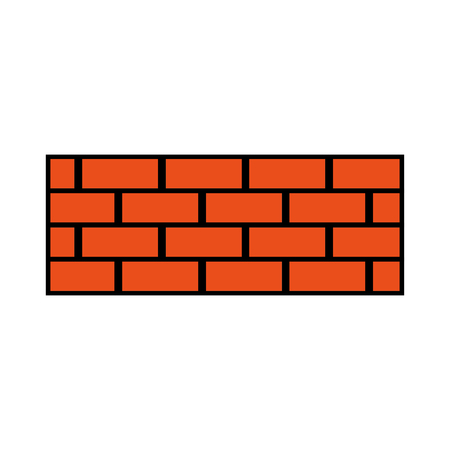 Brick wall construction concret image vector illustration