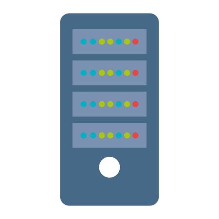 data server computer icon vector illustration design