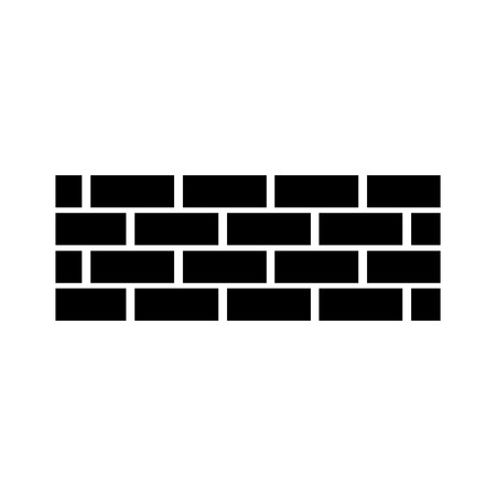brick wall construction concret image vector illustration black and white design