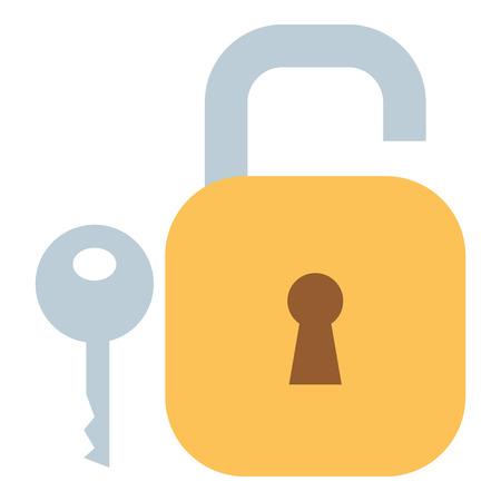 Safe secure padlock with key vector illustration design Фото со стока - 93599109