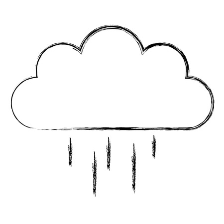Weather cloud rainy icon vector illustration design Ilustracja