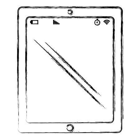 dispositivo de tablet isolado ícone vector ilustração design Ilustración de vector