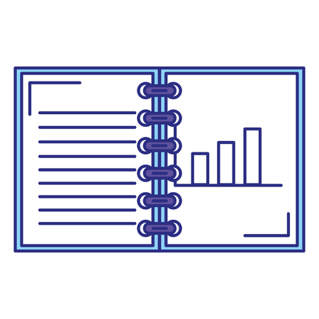 note book with statistics vector illustration design