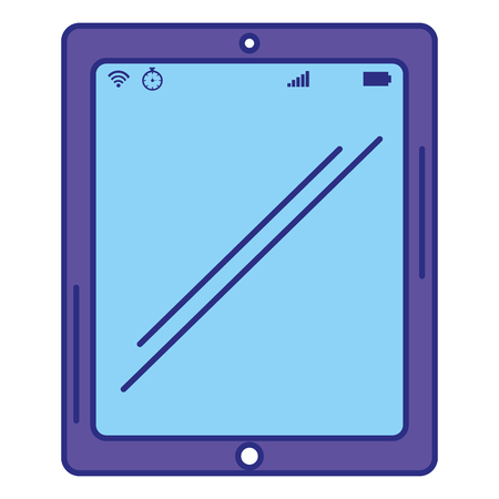 Tablet device isolated icon vector illustration design.