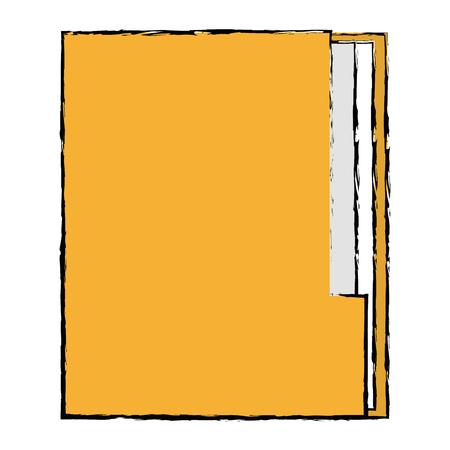file folder documents icon vector illustration design Illusztráció