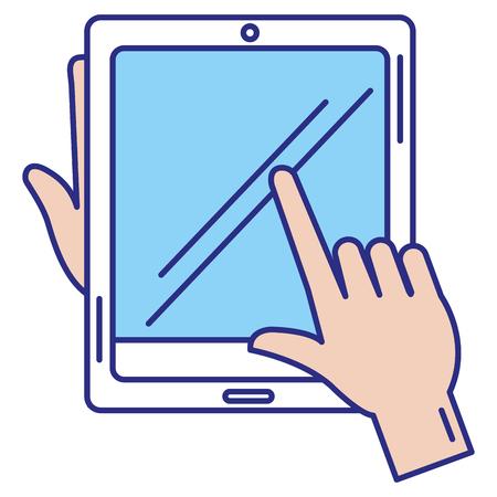 タブレットデバイス分離アイコンベクトルイラストデザイン