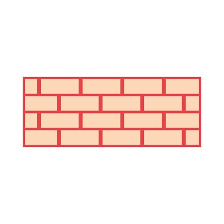 brick wall construction concret image vector illustration orange color image