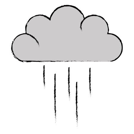 weather cloud rainy icon vector illustration design Vettoriali