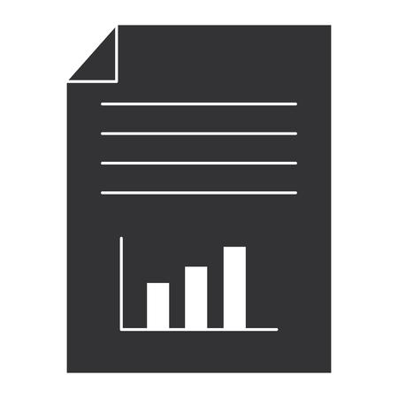 Papierdokument mit Statistik Vektor-Illustration-design Standard-Bild - 93602239