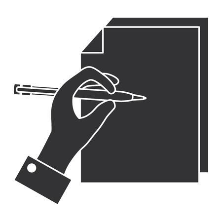 papieren document met de hand geschreven vector illustratie ontwerp