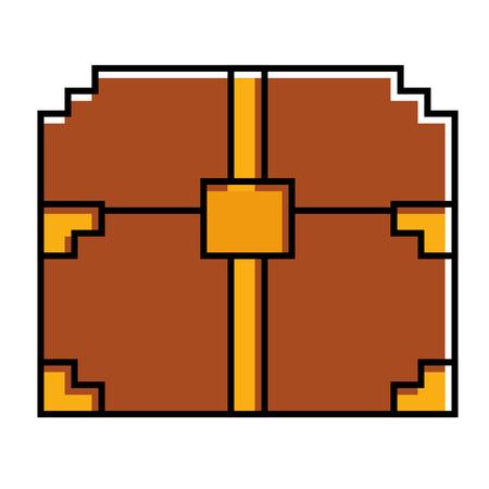 ピクセル化されたビデオゲーム宝箱幸運ベクトルイラスト