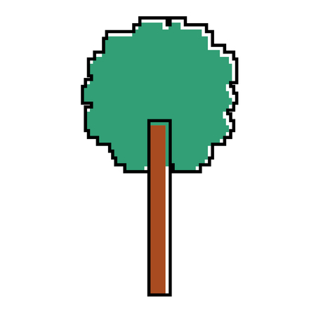 Tree pixel icon