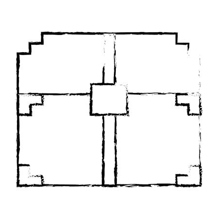 Video game treasure chest sketch design