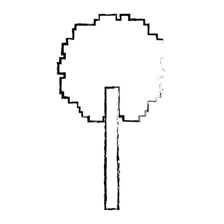 木のピクセルの葉の生態学の設計 写真素材 - 93605474