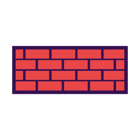bakstenen muur bouw concret afbeelding vector illustratie